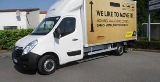Opel Rent Movano mit Kofferaufsatz